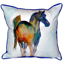Horse Prancing Indoor Outdoor Pillow 22x22 | Betsy Drake | BDZP877