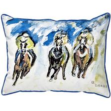 Race Horse Trio Indoor Outdoor Pillow 20x24 | Betsy Drake | BDZP320