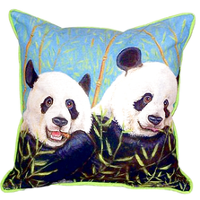 Panda Bear Indoor Outdoor Pillow 22x22 | Betsy Drake | BDZP927