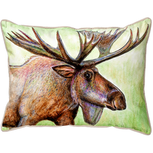 Moose Indoor Outdoor Pillow 20x24 | Betsy Drake | BDZP238