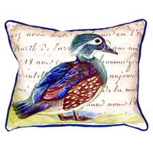 Wood Duck Female Indoor Outdoor Pillow 20x24 | Betsy Drake | BDZP149B