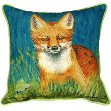 Red Fox Indoor Outdoor Pillow 22x22 | Betsy Drake | BDZP139