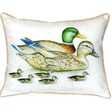 Mallard Family Indoor Outdoor Pillow 20x24 | Betsy Drake | BDZP266
