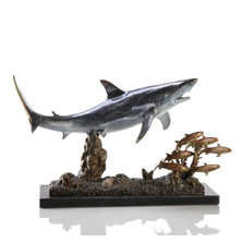 Shark with Prey Sculpture | 30969 | SPI Home