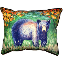 Black Bear Indoor Outdoor Pillow 20x24 | Betsy Drake | BDZP536