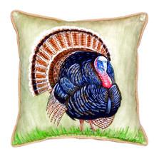 Wild Turkey Indoor Outdoor Pillow 22x22 | Betsy Drake | BDZP512