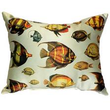 Fish Pattern Indoor Outdoor Pillow 20x24 | Betsy Drake | BDZP007AP
