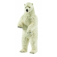 Polar Bear Life-Sized Stuffed Animal   Plush Animal Statue   Hansa Toys   HTU3650