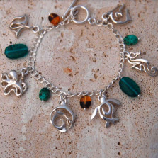Sea Life  Link Charm Bracelet | Big Blue Jewelry | SSCHARM