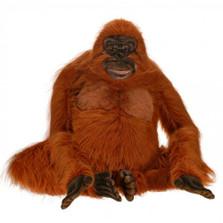 Orangutan Life-Sized Stuffed Animal | Plush Orangutan Statue | Hansa Toys | HTU3396