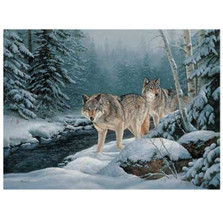 Wolf Canvas Wall Art | Wild Wings | F593019871