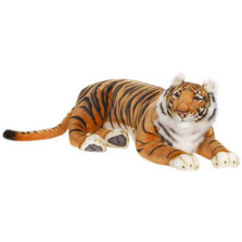 Bengal Tiger Large Stuffed Animal | Plush Tiger Statue | Hansa Toys | HTU3947