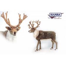 Nordic Reindeer Large Stuffed Animal | Plush Nordic Reindeer Statue | Hansa Toys | HTU6916