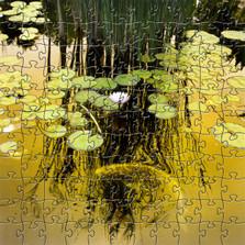 Golden Koi Artisanal Wooden Jigsaw Puzzle | Zen Art & Design | ZADGOLDENKOI