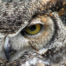 Great Horned Owl Artisanal Wooden Jigsaw Puzzle | Zen Art & Design | ZADGHORNEDOWL