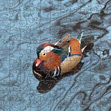Mandarin Duck Artisanal Wooden Jigsaw Puzzle | Zen Art & Design | ZADMANDDUCK