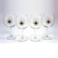 Compass Rose Wine Glass Set | Richard Bishop | 2045COM