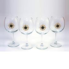Compass Rose Wine Glass Set | Richard Bishop | 2045COM