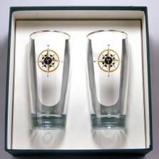 Compass Rose Beer Glass Set | Richard Bishop | 2043COM
