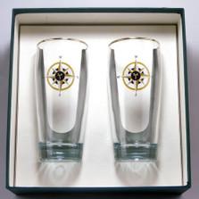 Compass Rose Beer Glass Set | Richard Bishop | 2043COM