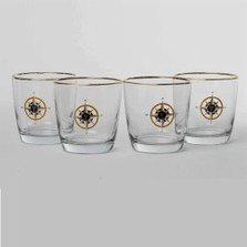 Compass Rose Cocktail Glass Set | Richard Bishop | 2025COM