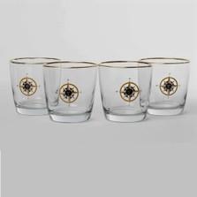 Compass Rose Cocktail Glass Set | Richard Bishop | 2025COM
