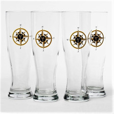Compass Rose Pilsner Glass Set | Richard Bishop | 2041COM