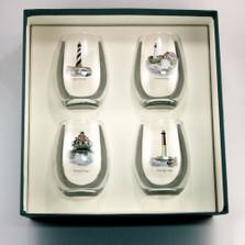 Lighthouse Stemless Wine Glass Set | Richard Bishop | 2079LIG