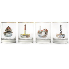 Lighthouse Double Old Fashioned Glass Set | Richard Bishop | 2026LIG