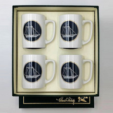 Sailboat Porcelain Coffee Mug Set | America's Cup | Richard Bishop | 5034AME