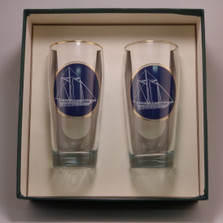 Sailboat Beer Glass Set | America's Cup | Richard Bishop | 2043AME