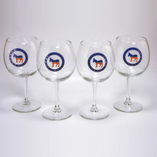 Democrat Donkey Wine Glass Set | Richard Bishop | 2045DEM