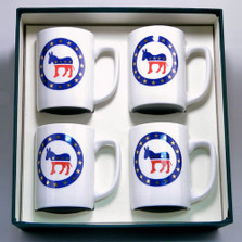 Democrat Donkey Porcelain Coffee Mug Set | Richard Bishop | 5034DEM