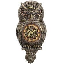 Steampunk Owl Wall Pendulum Clock | Unicorn Studios | WU77195A4