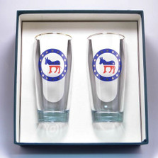 Democrat Donkey Beer Glass Set | Richard Bishop | 2043DEM