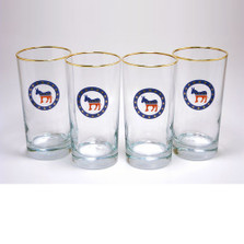 Democrat Donkey Iced Tea Glass Set | Richard Bishop | 2020DEM
