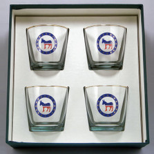 Democrat Donkey Cocktail Glass Set | Richard Bishop | 2025DEM