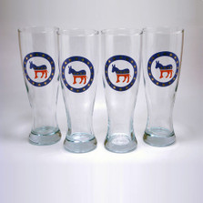 Democrat Donkey Pilsner Glass Set | Richard Bishop | 2041DEM