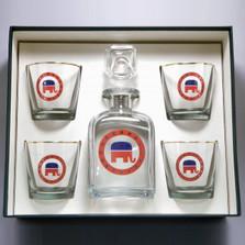 Republican Elephant Decanter Set | Richard Bishop | 2039REP
