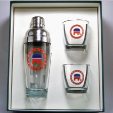 Republican Elephant Cocktail Shaker Set | Richard Bishop | 2037REP