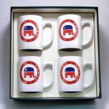 Republican Elephant Porcelain Coffee Mug Set | Richard Bishop | 5034REP