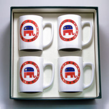 Republican Elephant Porcelain Coffee Mug Set | Richard Bishop | 5034REP