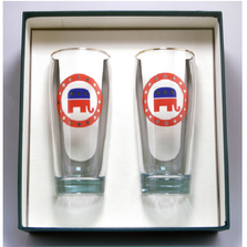 Republican Elephant Beer Glass Set | Richard Bishop | 2043REP