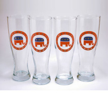 Republican Elephant Pilsner Glass Set | Richard Bishop | 2041REP