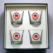 Republican Elephant Cocktail Glass Set | Richard Bishop | 2025REP