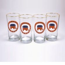 Republican Elephant Iced Tea Glass Set | Richard Bishop | 2020REP