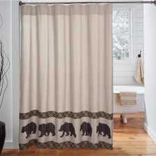 Bear Wyatt Shower Curtain | VHC Brands | 34327