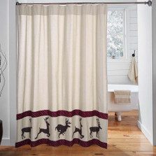 Deer Wyatt Shower Curtain | VHC Brands | 34328