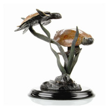 Sea Grass Tango Sea Turtle Sculpture | 31991 | SPI Home