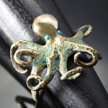 Octopus Bronze Cuff Bracelet | Anisa Stewart Jewelry | BRB1014